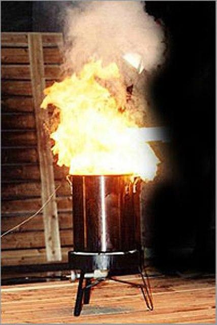 Use turkey fryers outdoors and away from combustible materials