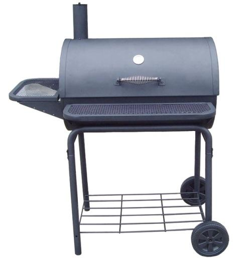 Charcoal grills should have a sturdy base and lid