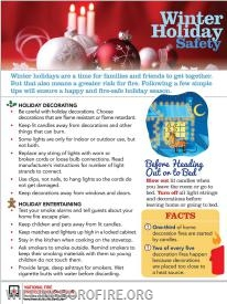 A list of holiday safety tips for you and your family