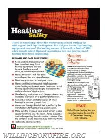 Heating Equipment Safety Tips