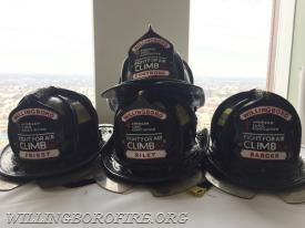 Special helmet shields for the Air Climb