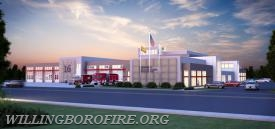 An artists rendering of the new Fire and EMS facility