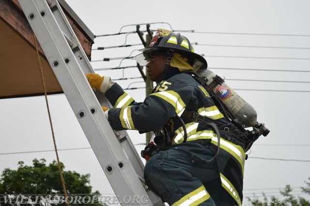 Ladder climbing is an essential skill for all firefighters