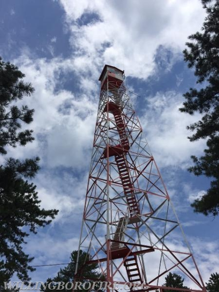 The highest NJ Forestry Service fire tower in the state at 125 feet