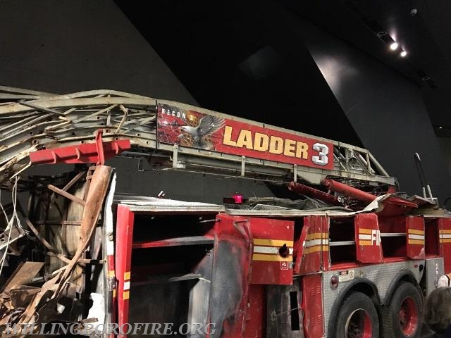 The remains of Fire Department of New York's Ladder 3