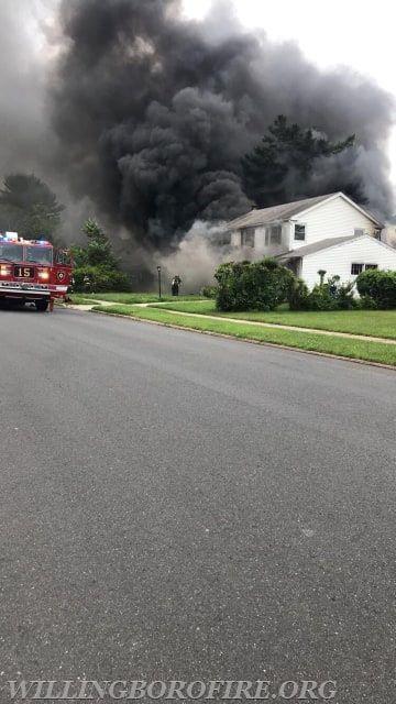 Firefighters encounter heavy smoke on arrival