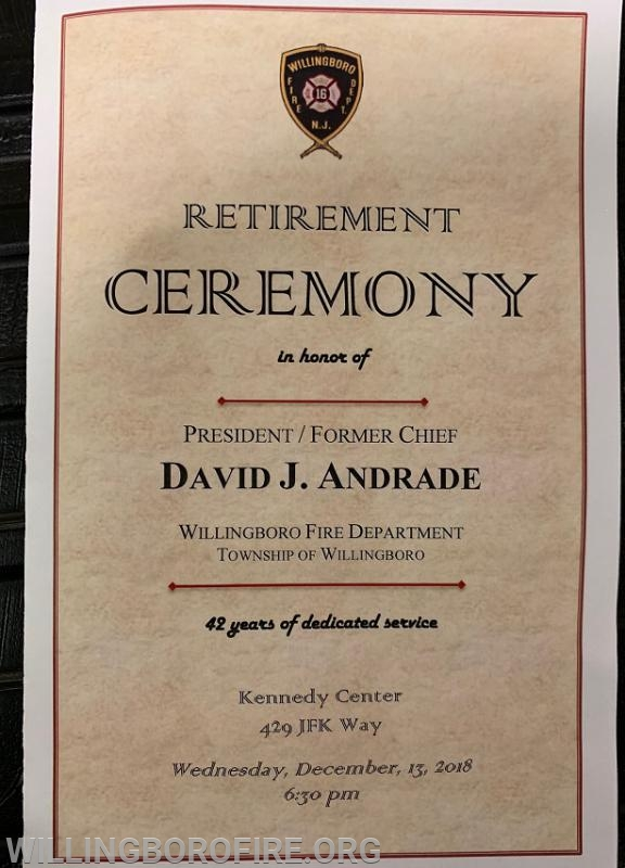 The ceremony program