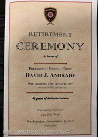 The ceremony program
