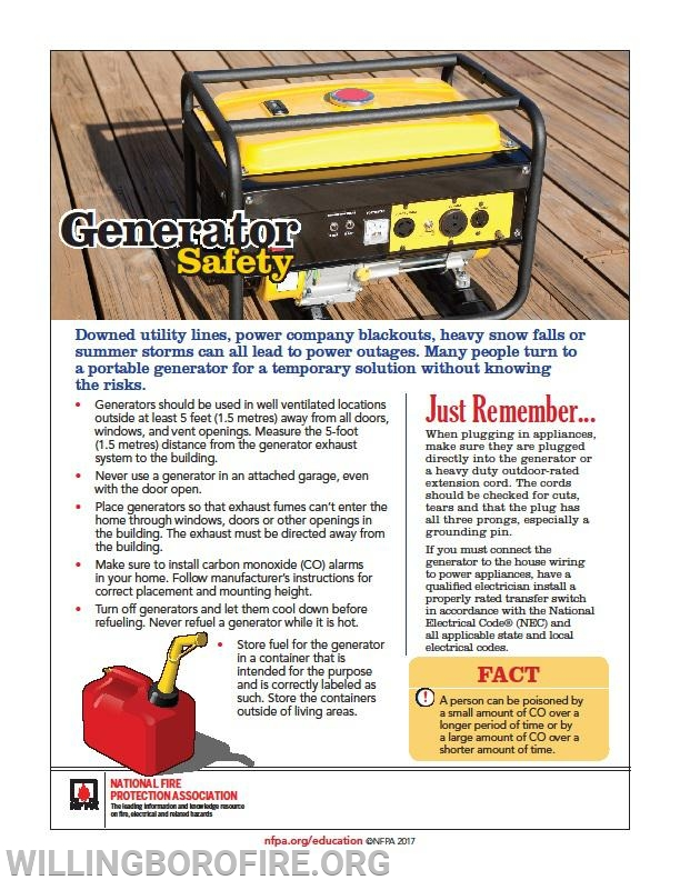 Tips for safe usage of portable generators.