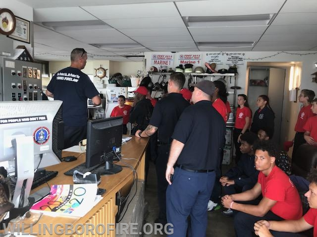 FDNY Marine 1 staff explain their vessel to the cadets