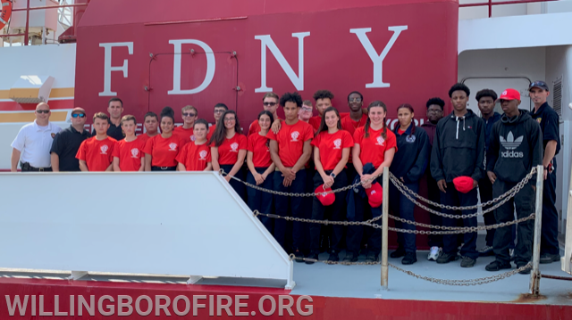 Youth Fire Academy cadets and staff