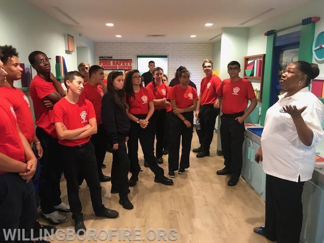 Retired FDNY Firefighter Harriet Duren speaks to the cadets