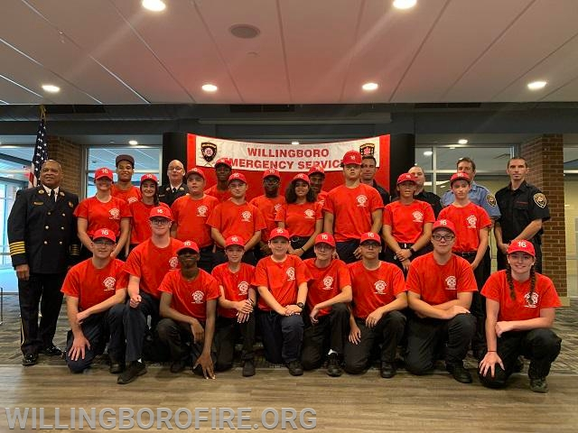 2019 Youth Fire Academy and staff