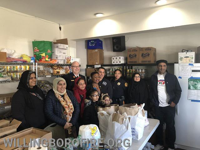 Tour of the mosque's food pantry