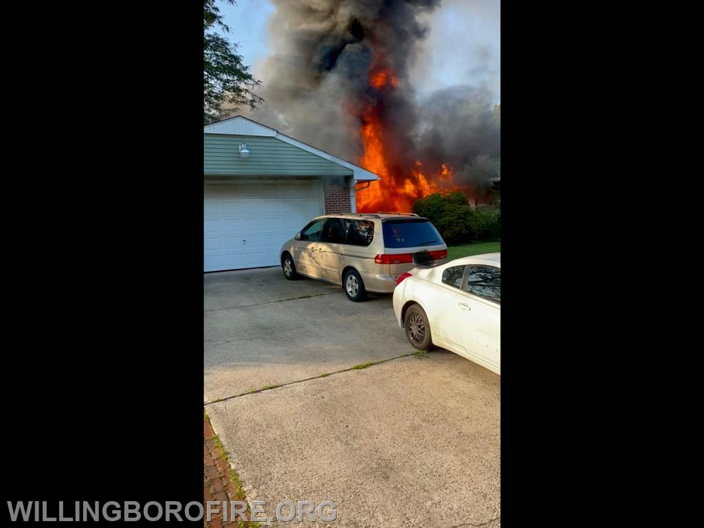 """Heavy fire showing from division """"A""""."""