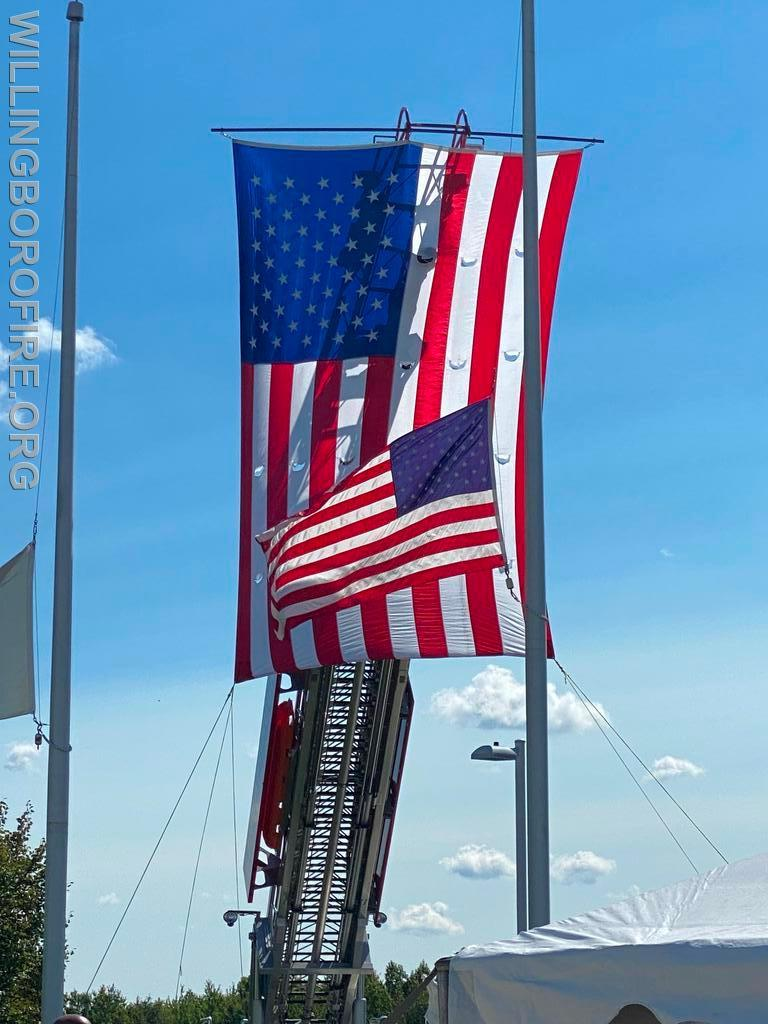 Flags to honor the fallen Hero's of 9-11